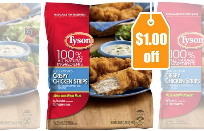 New $1/1 Tyson Crispy Chicken Strips Coupon + Great Deals ...