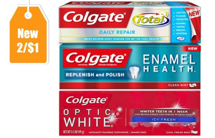 Colgate coupons 1 off