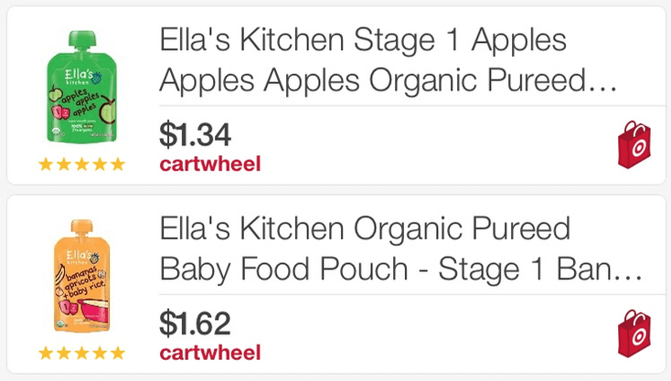 new $1.50/4 ella's kitchen coupon - $0.83 at target + more deals