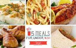 5 Meals for Under $30 at Target