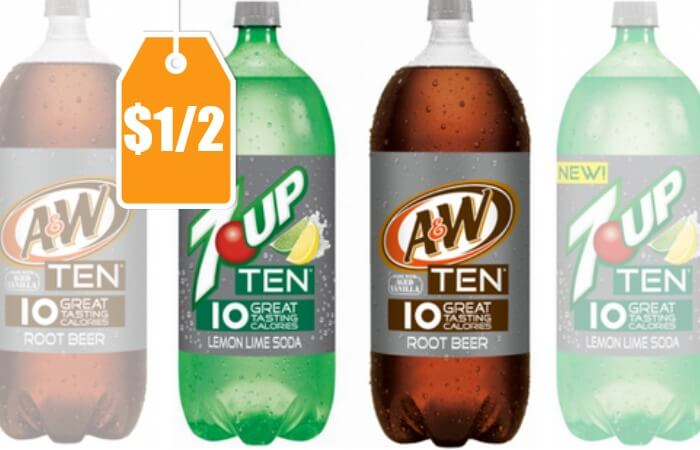 New 1 2 Canada Dry Ten Amp Flavors Soda Coupon 0 14 At