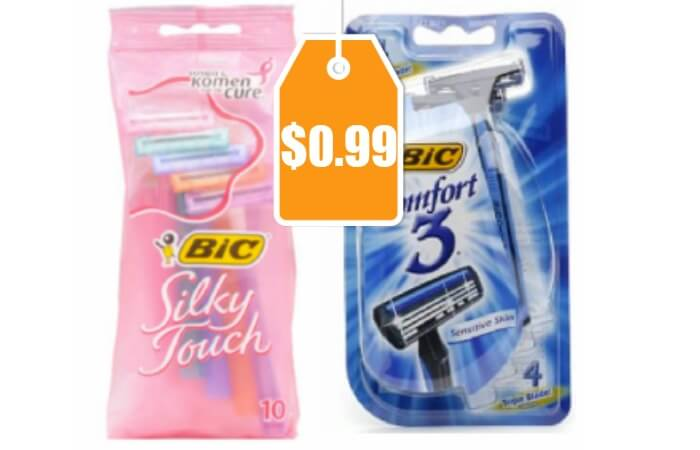 Printable coupons for bic disposable razors