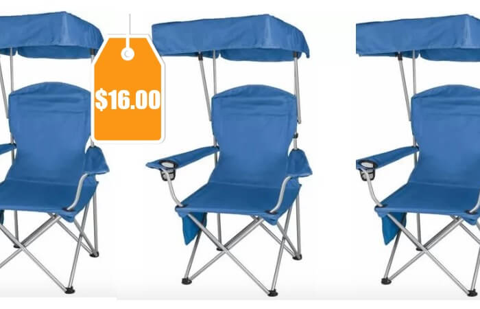 chair  sc 1 st  Living Rich With Coupons & Ozark Trail Quad Folding Canopy Shade Camp Chair $16 (Reg. $26.97 ...