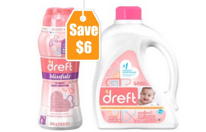 photograph relating to Dreft Printable Coupon identified as $6 in just Refreshing Dreft Coupon codes - $1.99 at Harris Teeter + Additional