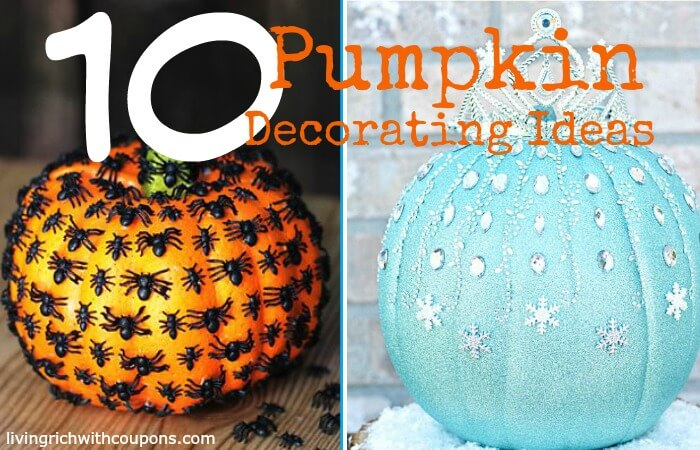 10 Unique Pumpkin Decorating Ideasliving Rich With Coupons