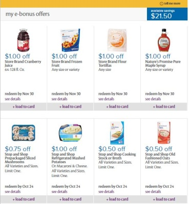 Stop and shop digital coupons