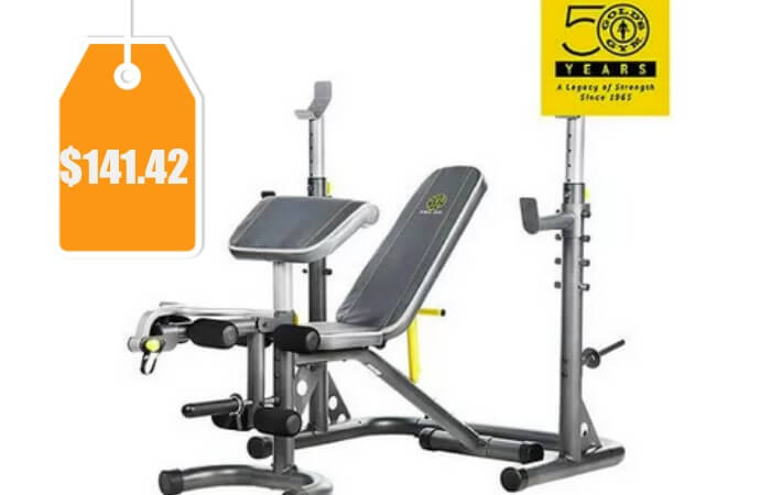 Gold 39 S Gym Xrs 20 Olympic Workout Bench Orig 299 Free Shippingliving Rich With