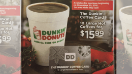 Dunkin Donuts Holiday Card