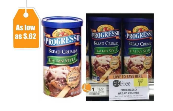 Progresso Bread Crumbs, Only $0.50 at King Soopers!