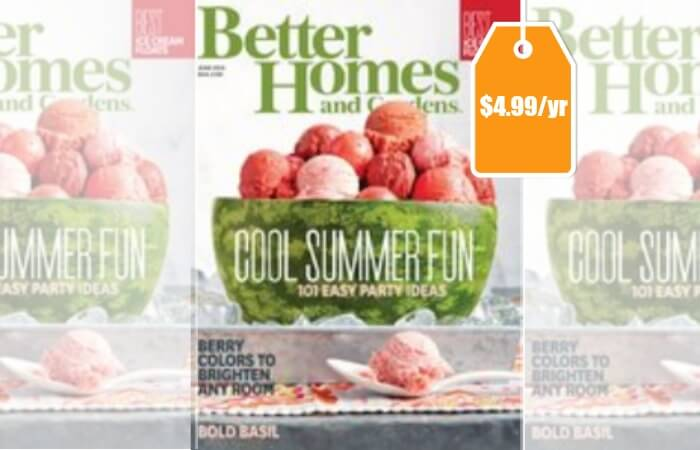 Better Homes And Gardens Magazine Only Per Year