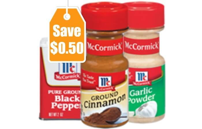 Printable coupons mccormick spices