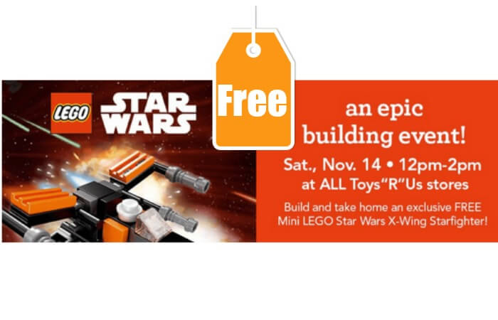 FREE Mini Lego Star Wars Build Event at Toys R Us {Today