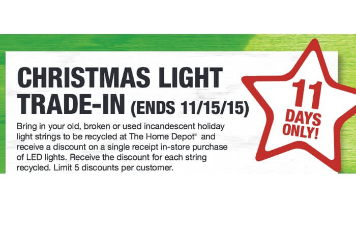 Home Depot: Holiday Light Trade-In {Through 11/15}Living Rich With ...