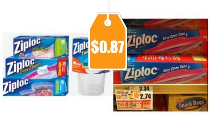 Ziploc Bags And Containers As Low As 0 87 At Shoprite