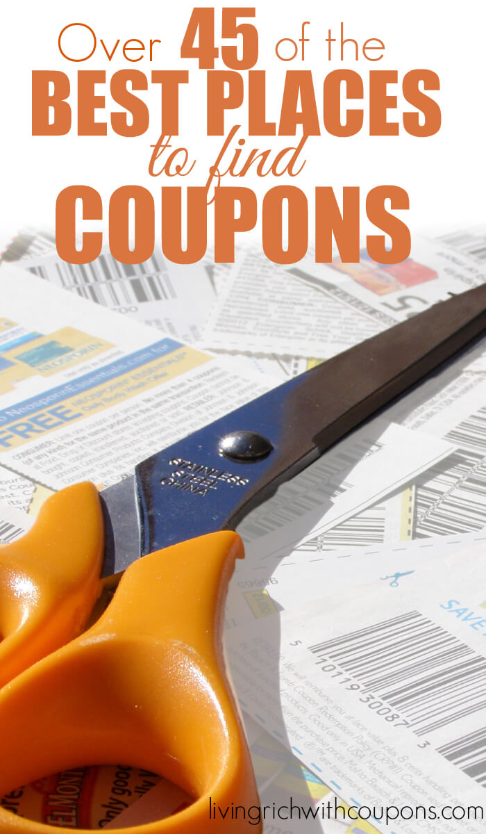 Over 45 of the Best Places to Find Coupons
