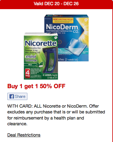 Nicotine patch coupons 2015