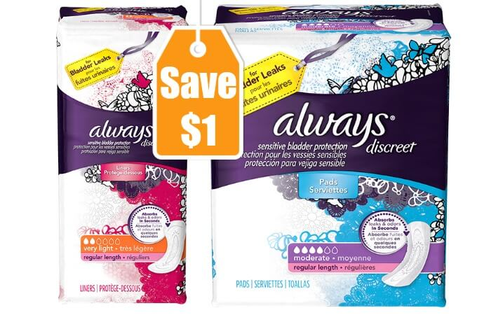 2 New Always Pads & Liners Coupon - Save $1 + Lots of Deals