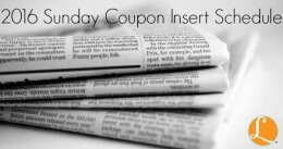 sunday coupon insert