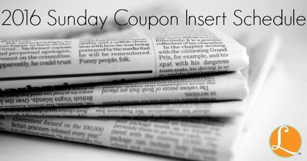 sunday coupon insert