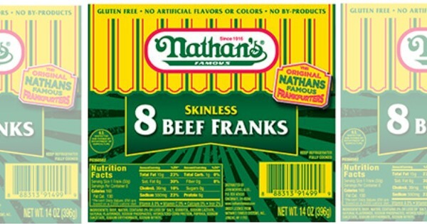 photograph about Nathans Printable Coupons named Clean $1/2 Nathans Renowned Beef Franks or Cocktail One-way links