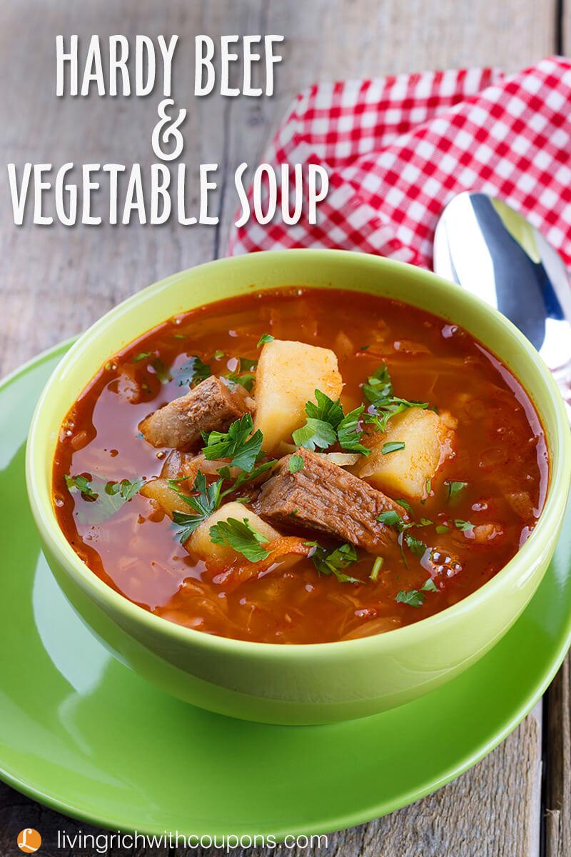 Hardy Beef Vegetable Soup