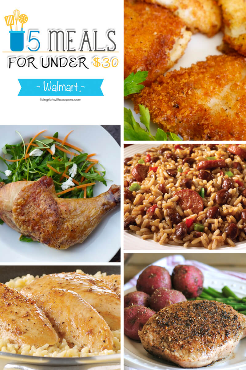 5 Meals for Under $30 at Walmart