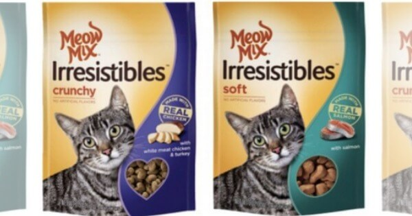 photograph relating to Meow Mix Coupon Printable called $4 within just Refreshing Meow Combination Cat Food stuff Snacks Coupon codes + Bargains!Residing