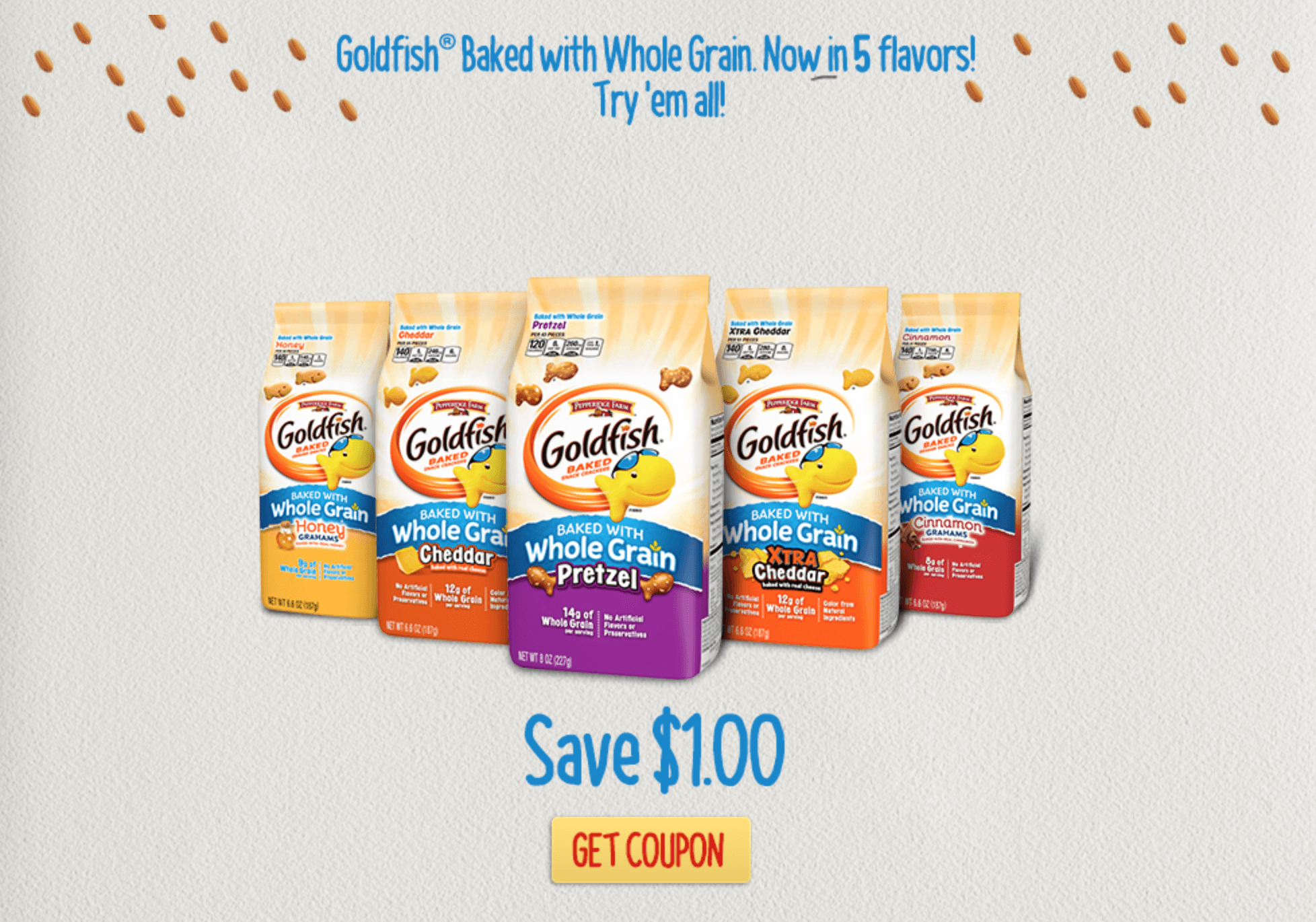 Goldfish crackers coupons printable 2012