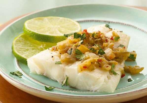 Broiled Fish with Salsa Verde