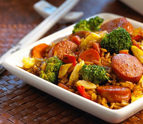 Smoked Sausage Fried Rice