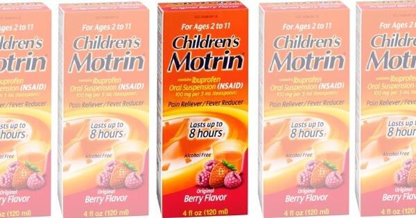 Children's ibuprofen coupons