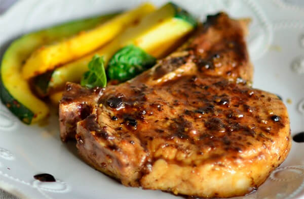 Balsamic Glazed Pork Chops