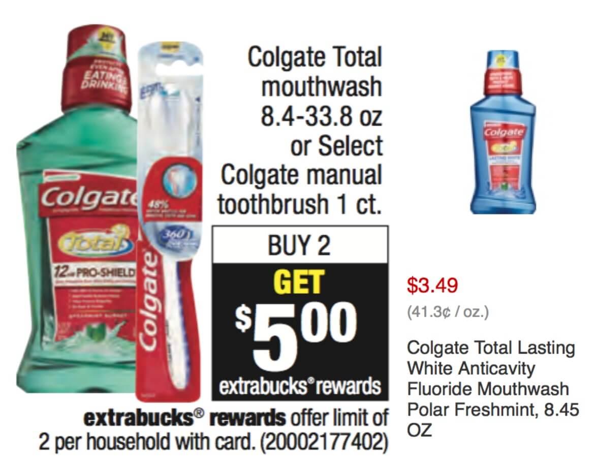 Cvs colgate total mouthwash coupon