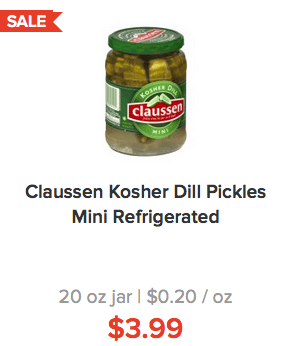 Stacked pickle coupons