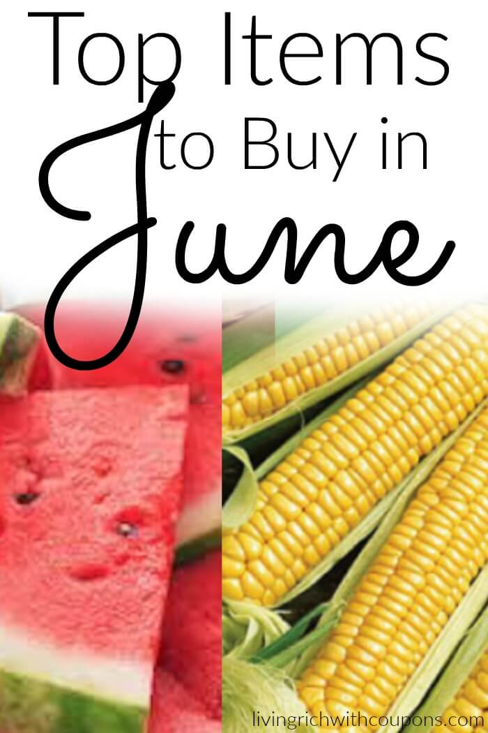 Top Items to Buy in June