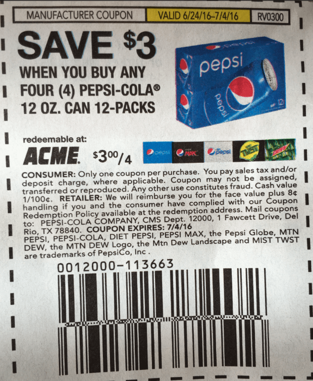photo about Pepsi Coupons Printable referred to as Pepsi 12 pack Cans as Reduced as $1.58 at ShopRite! 6/26Residing