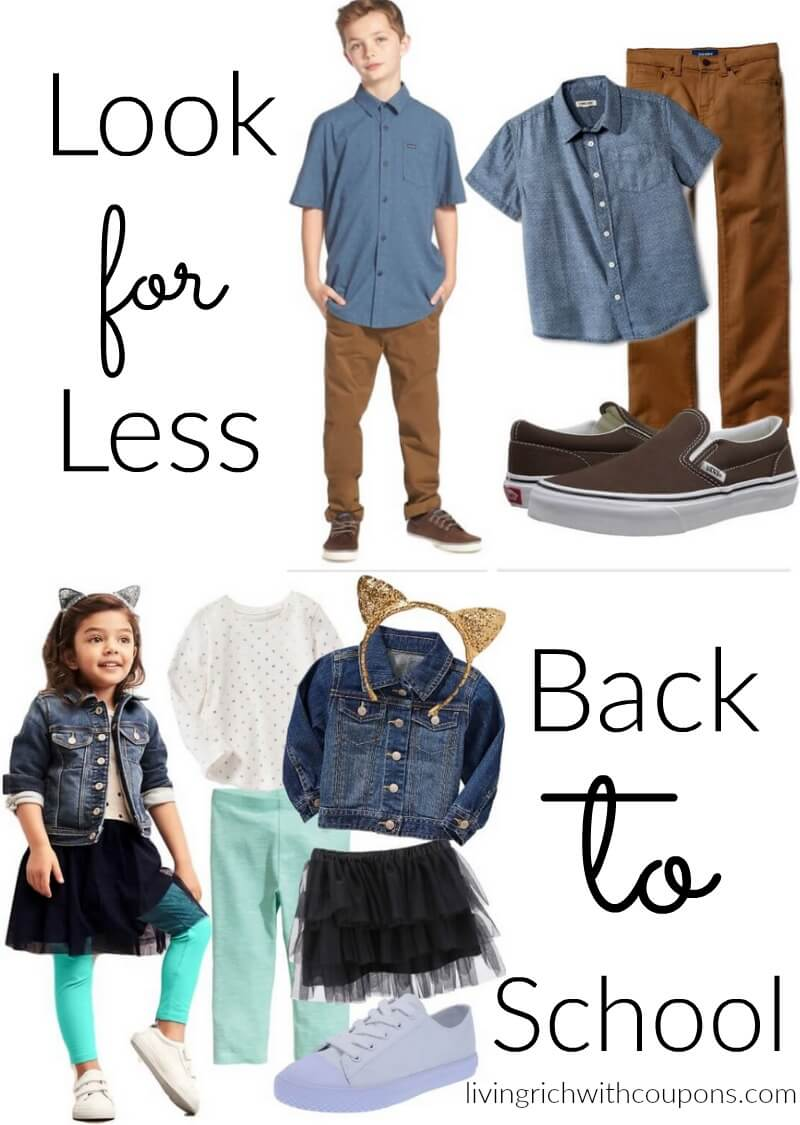 Living Rich On Lessliving Rich On Less: 6 Looks For Less For Back To School That Will Save You