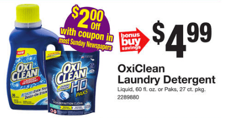 New 3 1 Oxiclean Hd Laundry Detergent Coupon 2 Money