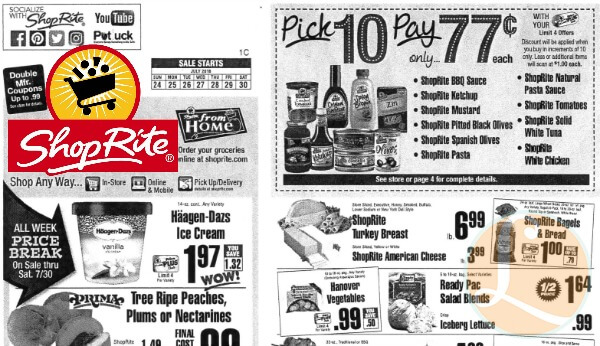 shoprite preview ad for the week of 7  24  16living rich