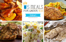 Free Weekly Meal Planning at Walmart