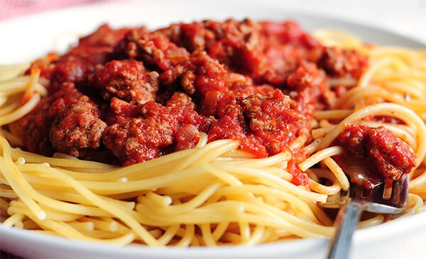spaghetti with italian meat sauce with tossed salad total cost ...