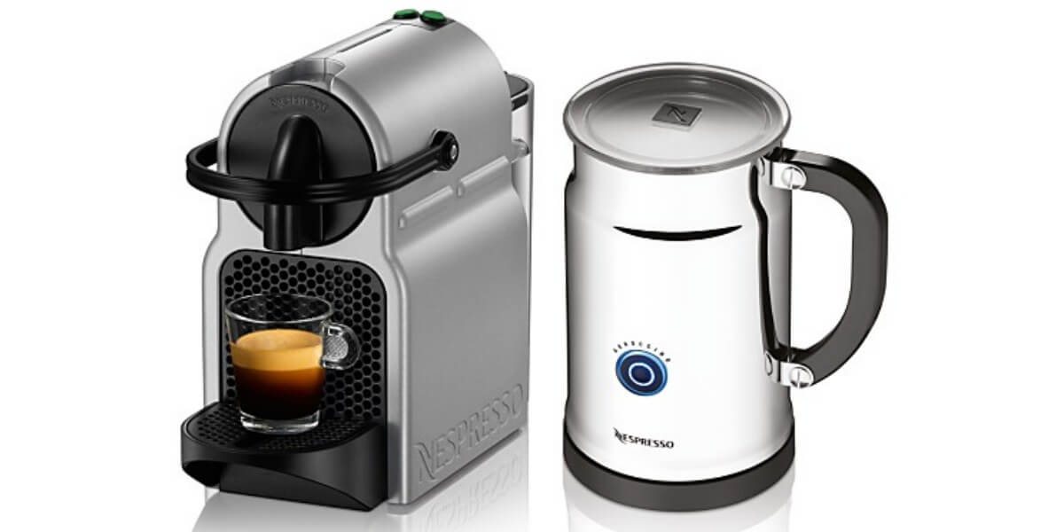 nespresso inissia espresso maker and frother bundle. Black Bedroom Furniture Sets. Home Design Ideas