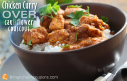 Chicken Curry Over Cauliflower Couscous