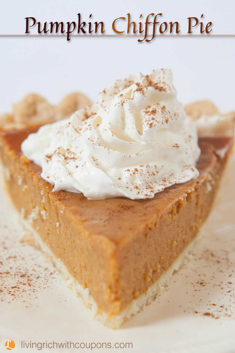 Pumpkin Chiffon Pie Recipe -Living Rich With Coupons®
