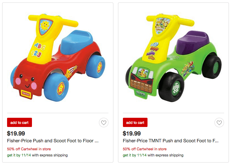today only save 50 off fisher price push and scoot riding toy at target just. Black Bedroom Furniture Sets. Home Design Ideas