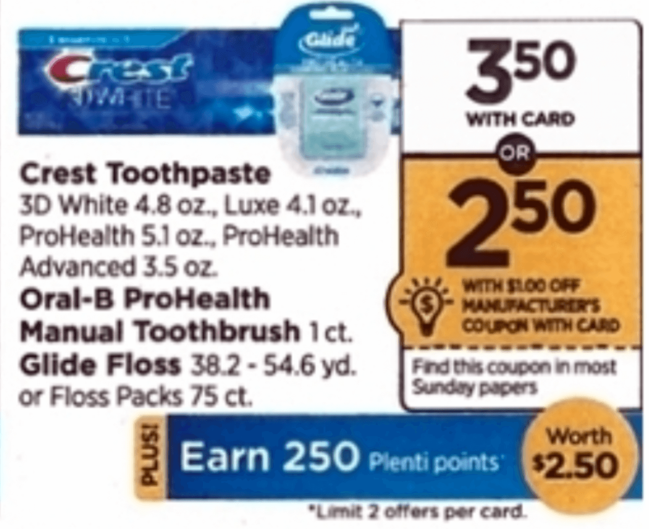 Crest toothpaste printable coupons canada