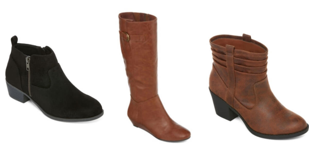 jcpenney boots 21 25 reg up to 90 living rich with