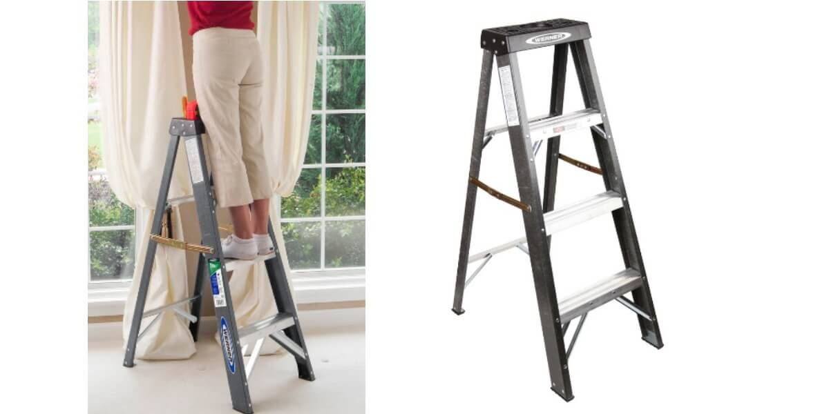 Pleasing Werner 4 Ft Fiberglass 225 Lb Step Ladder 19 98 Reg 54 Inzonedesignstudio Interior Chair Design Inzonedesignstudiocom