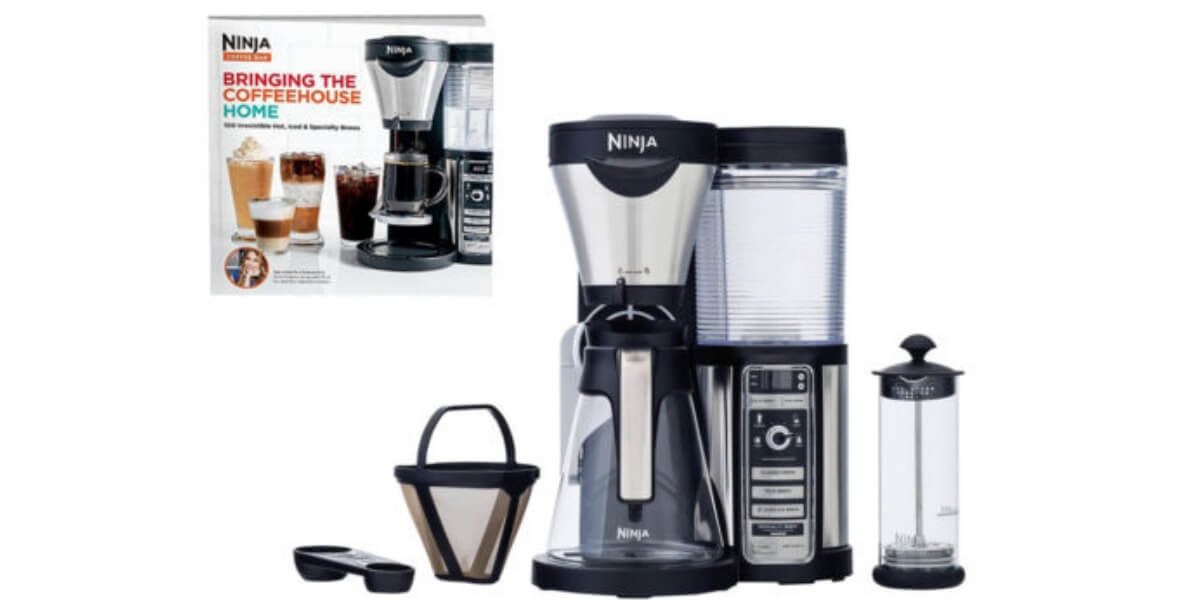 Ninja Coffee Maker Deals : Ninja Coffee Bar w/Glass Carafe, Frother & Cookbook USD 79.99 (Reg. USD 209.99) + Free Shipping!Living ...