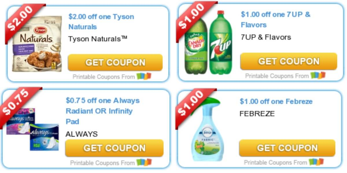 Today's Top New Coupons - Savings from Canada Dry, Dove Body Wash, Tyson & More